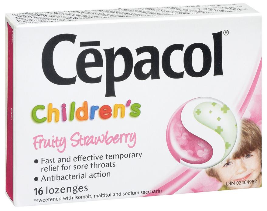CEPACOL LOZENGE CHILDREN 0.6/MG1.2MG