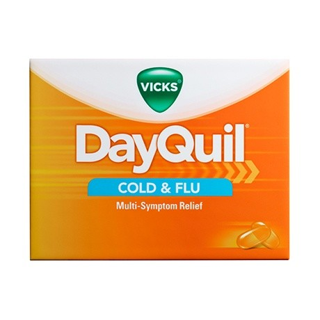VICKS DAYQUIL COLD&FLU 325/10/5MG